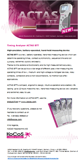 ACTAS BTT Newsletter